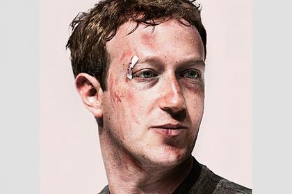 Избитый Цукерберг появился на обложке