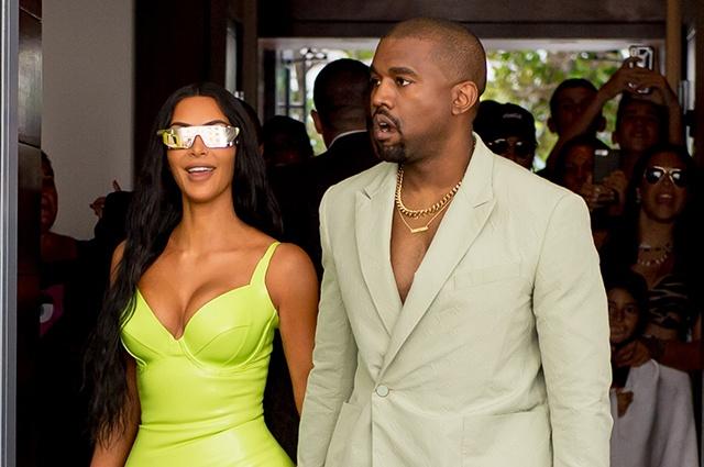 Ким Кардашьян и Канье Уэст посетили свадьбу друга